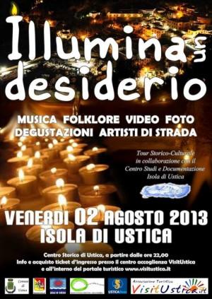 """Incontrarsi ad Ustica il 02-08-2013 per """"Illuminare un desiderio""""…"""