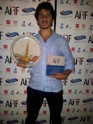 Riccardo Cannella all'Ariano International Film Festival sale due volte sul palco