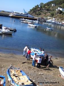 rimettere a mare la barca