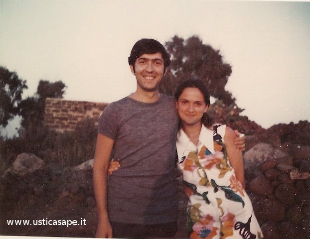 Franco Tranchina con la moglie