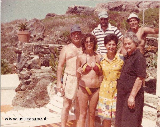 Foto ricordo con italo americani  1979