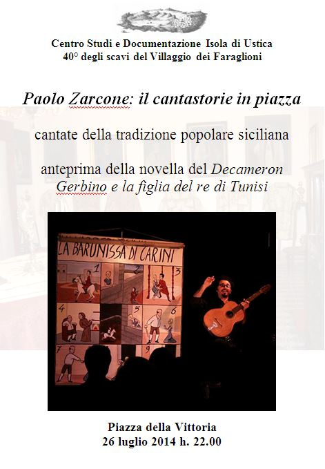 Paolo Zarcone: il cantastorie in piazza