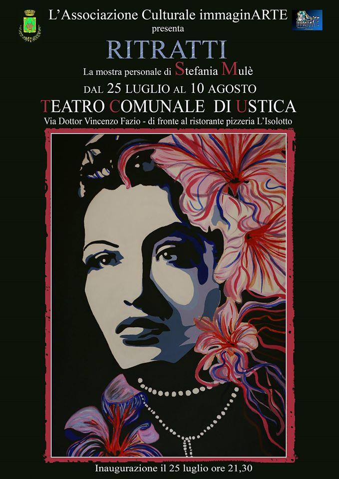 25 Luglio 2014 - Teatro Comunale di Ustica - Mostra Personale di Stefania Mulè