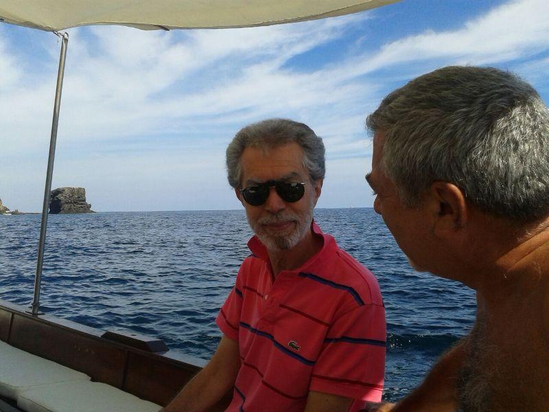 Esplorazioni usticesi per terra e per mare del prof. Stefano Gresta, presidente INGV, e Signora