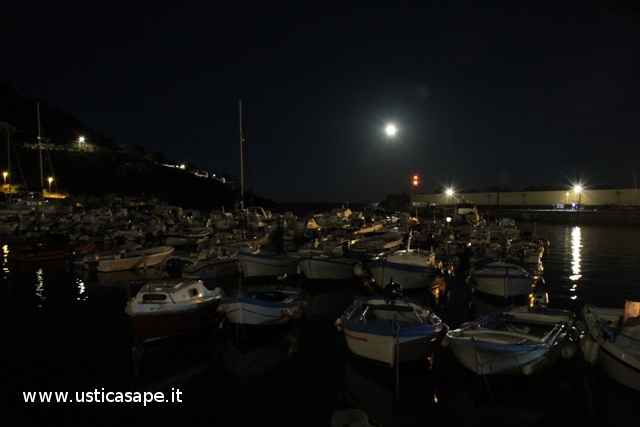 Luna piena su Cala Santa Maria