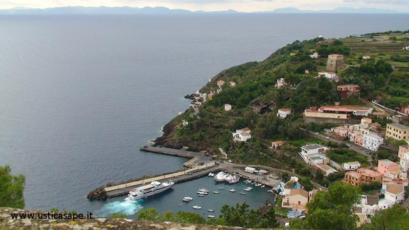 Da Ustica vista parte della costa nord della Sicilia