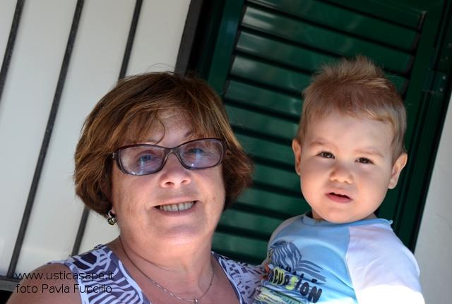 Elias con la madrina zia Rosalia