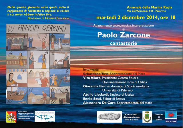 Cantastorie Paolo Zarcone all'Arsenale