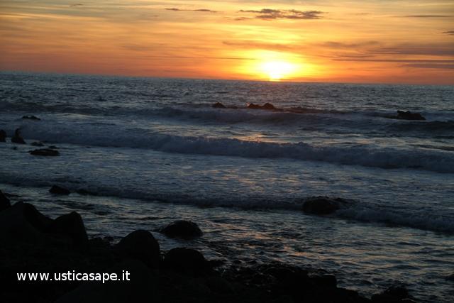 tramonto dallo sbarramento