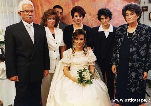 Foto ricordo con la sposa