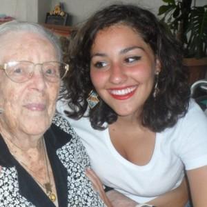 Nonna Maria Bertucci Giordano e la nipote Gabriella Amenta