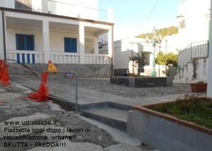 Piazzetta dopo i lavori di riqualificazione urbana