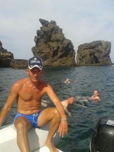 Il barcaiolo Giuseppe Caminita