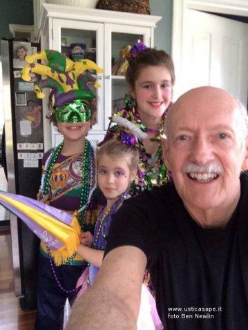 Nonno Beniamino con i nipotini