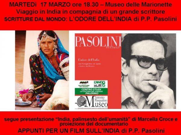 L'odore dell'India di Pier Paolo Pasolini - 17 marzo