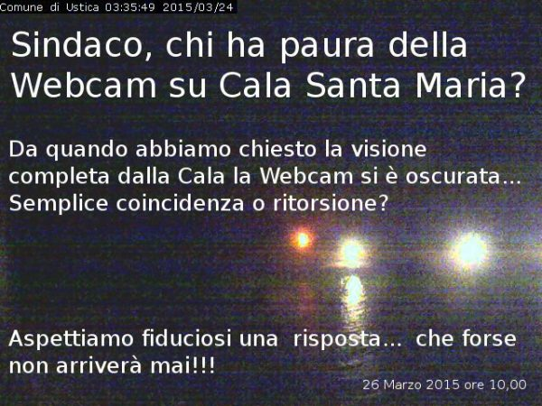 Webcam su Cala santa Maria