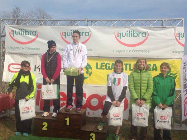 podio bennici campionati nazionale uisp cross 15