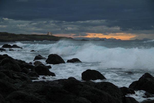 mare mosso - tramonto