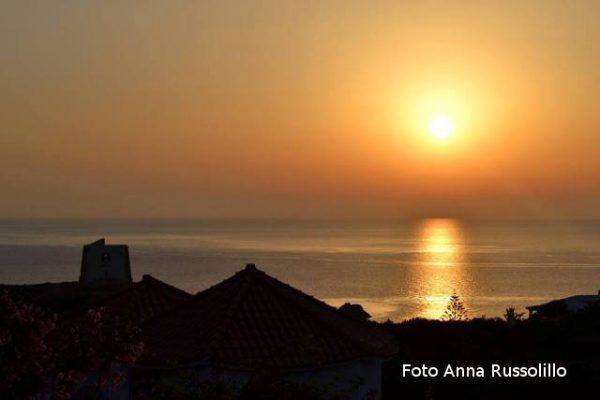 Un bel tramonto da Punta Spalmatore