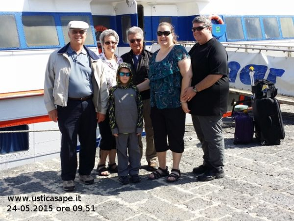 Ustica, americans from New Orleans (family Pittari – Manfrè) looking for their roots