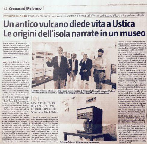 Un antico vulcano diede vita a Ustica. – Le origini dell'Isola narrate in un museo