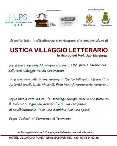 Invito inaugurazione USTICA VILLAGGIO LETTERARIO