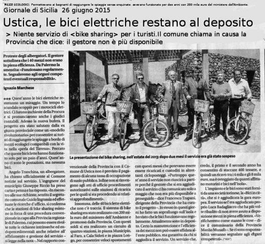 Ustica, bici elettriche