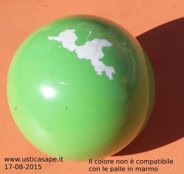 la palla sta perdendo il colore