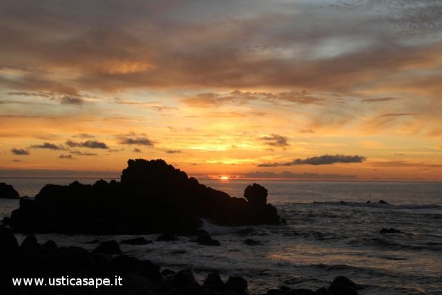 Bel tramonto dallo sbarramento