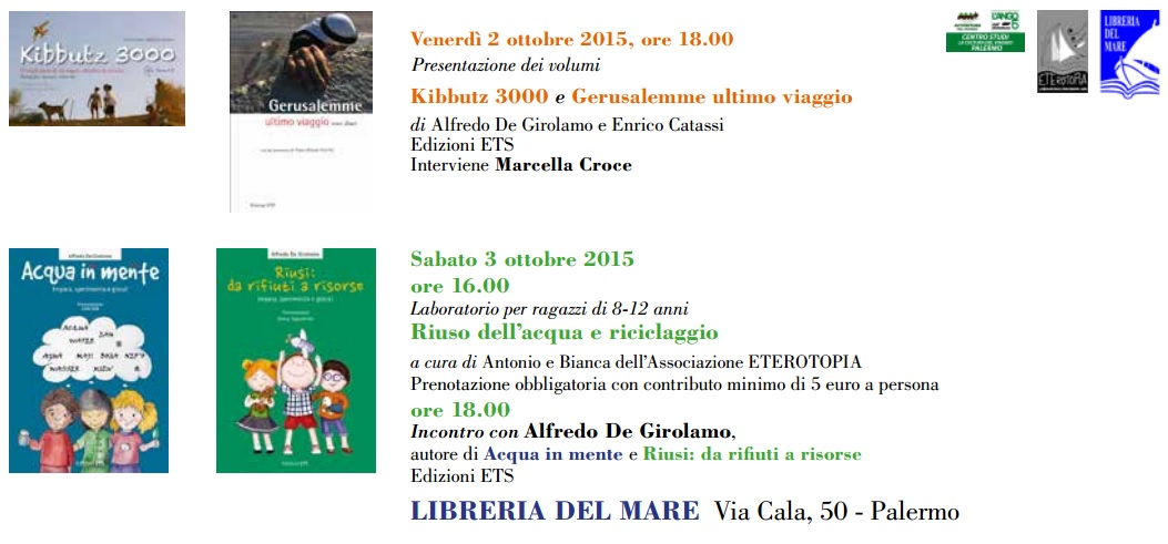 2 & 3 ottobre Alfredo De Girolamo a Palermo