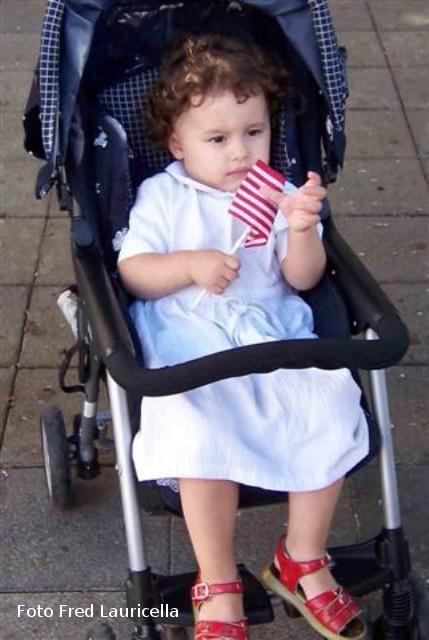 Bambina di Ustica che sogna l'America