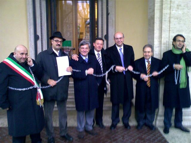Protesta trasporti sindaci a Roma