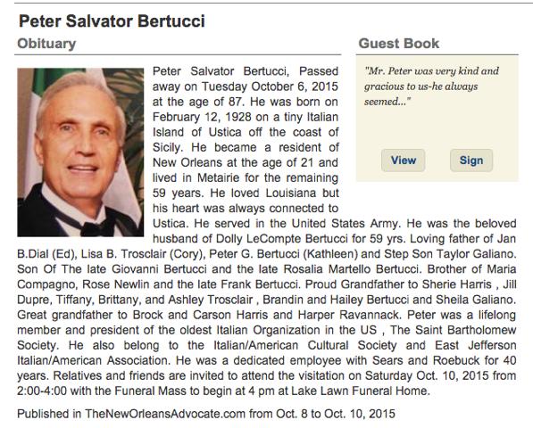 Peter Obituary