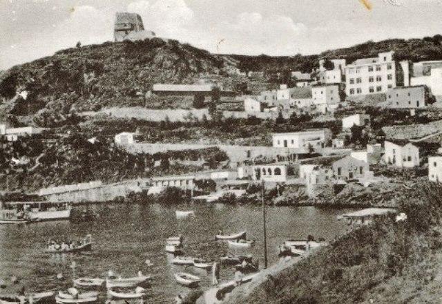 vista dalla cala Santa Maria