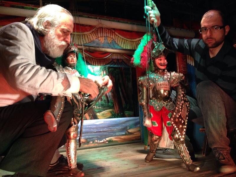 Mimmo e Giacomo Cuticchio nel Teatrino3