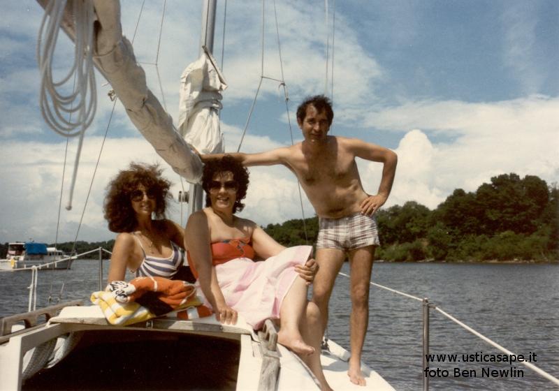 Un giro in barca a vela ad Alexandria USA con Ben Newlin – 1984