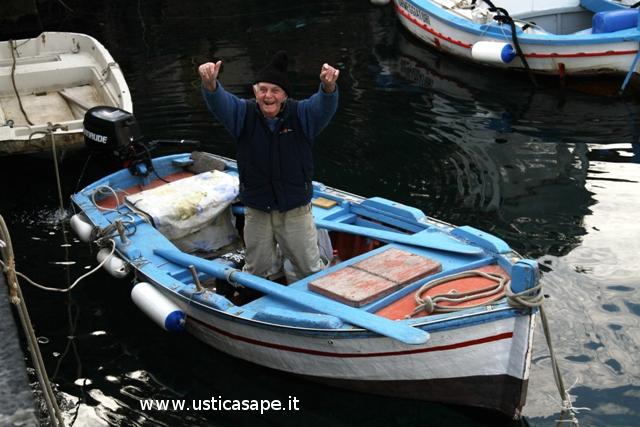 """""""Mancino"""", veterano dei pescatori"""