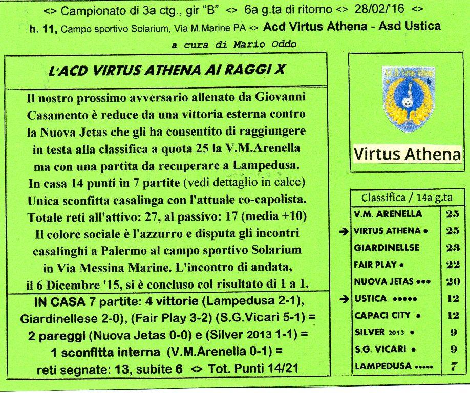 Campionato di calcio di 3a cat., gir. B Il prossimo avversario dell'Asd Ustica