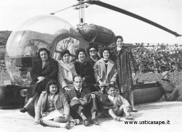 Ustica Piano Cardoni,  foto con l'elicottero