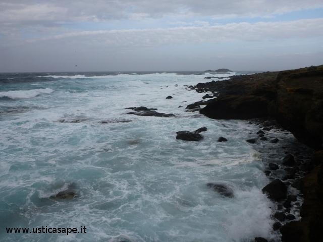 Spalmatore, mare molto mosso