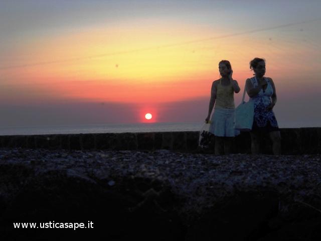 una passeggiata al tramonto