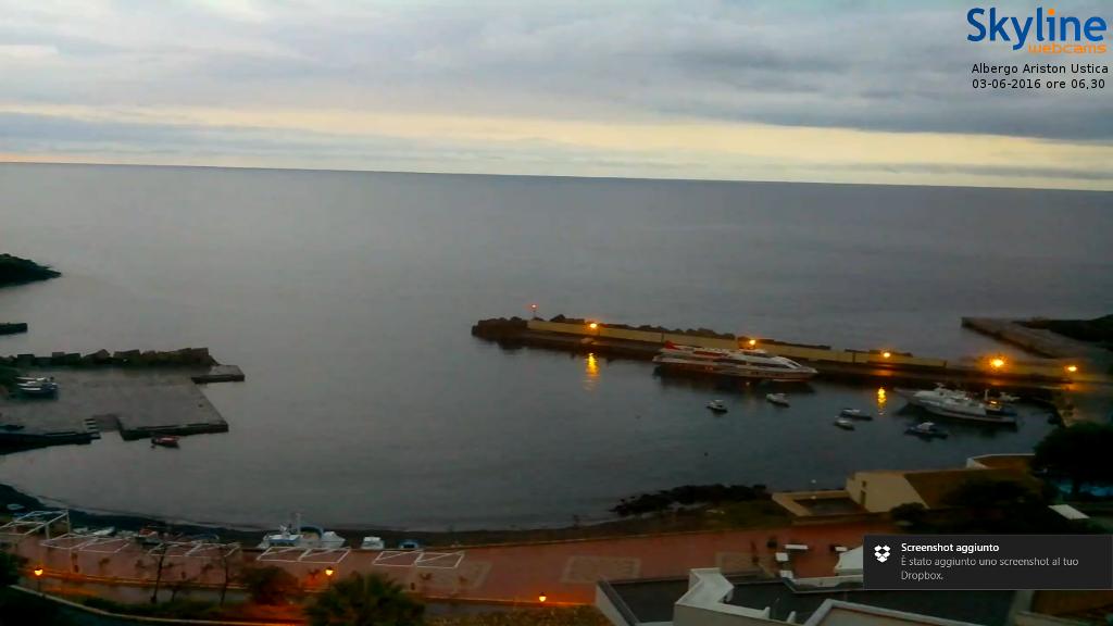 Ustica, Cala Santa Maria dalla webcam