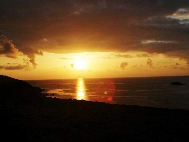Ustica scoglio del medico, tramonto