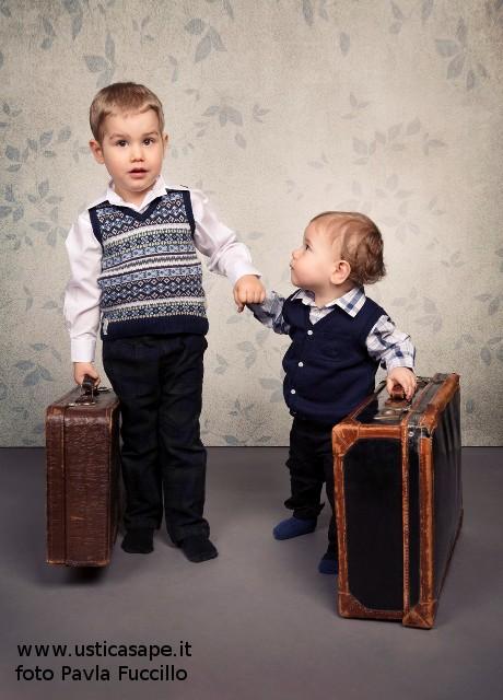 Elia e Giovanni pronti per la partenza