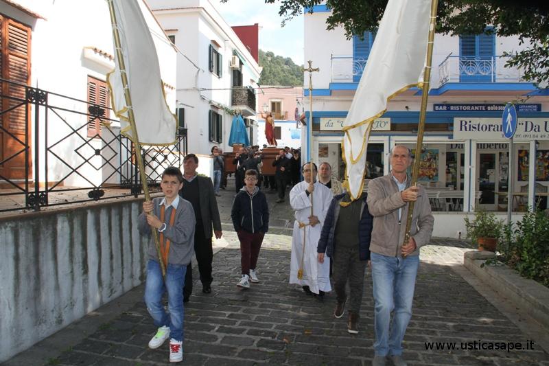 Ustica, Processione per le vie dell'Isola