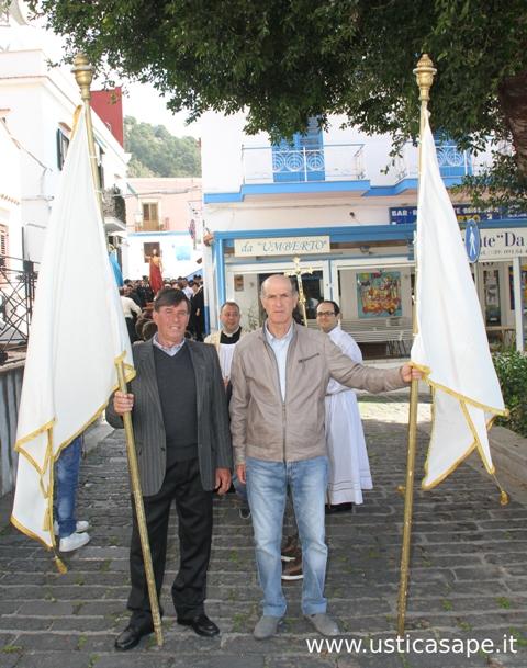 Gaetano e Filippo in testa alla processione
