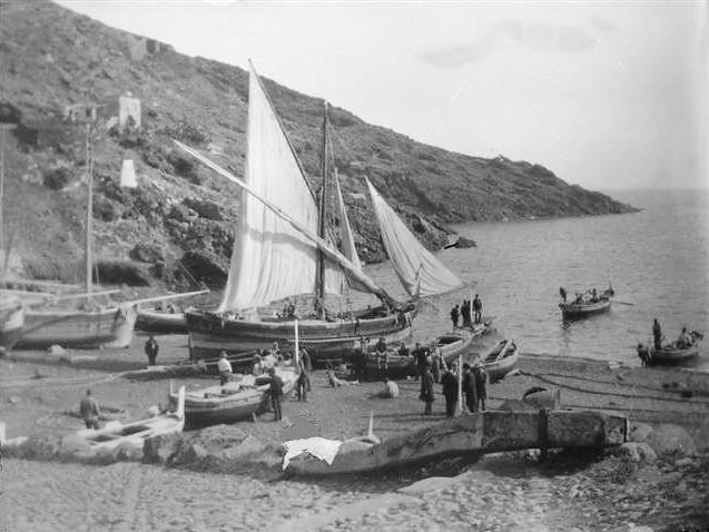 Ustica, foto marineria - 1900