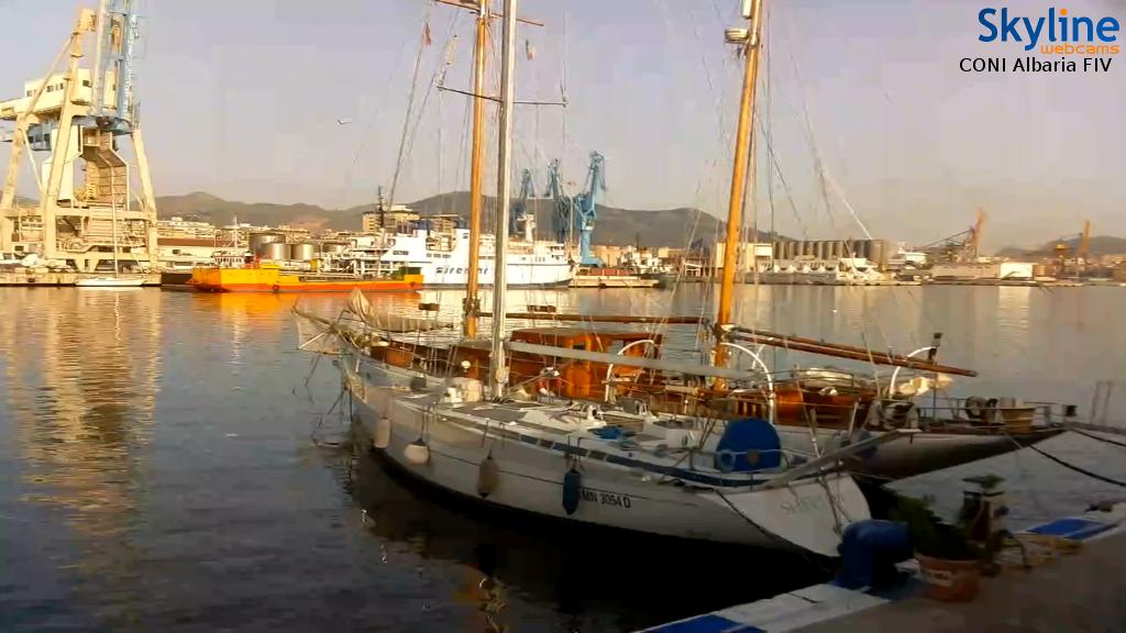 Nuova Webcam sonora della Skyline, nel porto di Palermo