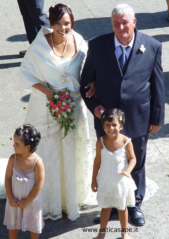 elegante la sposa ma anche Giannuzzo