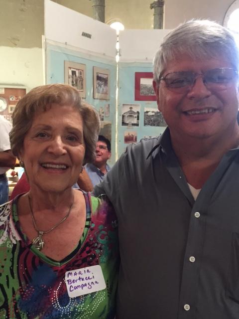 Maria con il sindaco Mannino